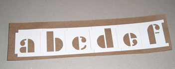 Adhesive Backed Alphabet stencil